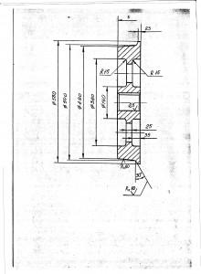 Колесо крановое одноребордное (колесо К1Р)