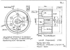 Тормозной шкив D-300